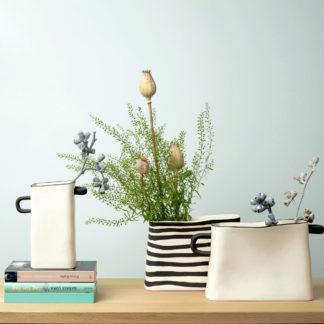 Vase RAYU ASA natur | gestreift | natur
