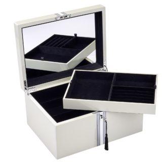 Schmuckkästchen Schmuckbox TANG GiftCompany Lack Streifen flannel B 31 cm