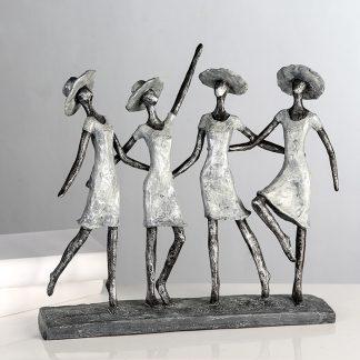 Skulptur VIER LADYS Casablanca H 34,0 cm