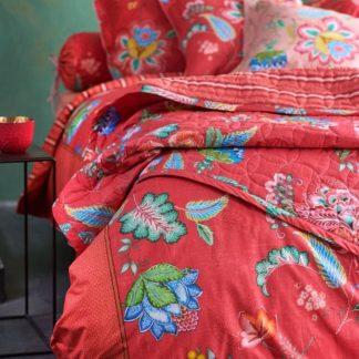 Tagesdecke PIP Studio JAMBO FLOWER rot 270 x 260 cm