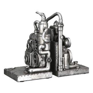 Buchstütze STEAMPUNK MACHINE 2-teilig Casablanca H 19 cm