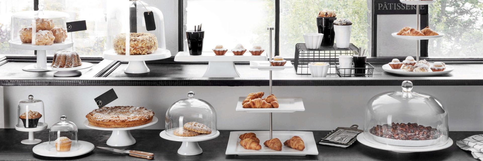 Etagere, Tortenplatte & Glasglocke