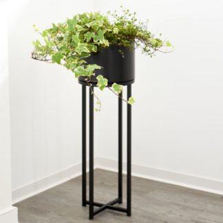 Pflanzkübel mit Füßen ESTHER schwarz H 79 cm