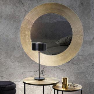 Spiegel GLOWY Kaheku antik vermessingt ø 89 cm