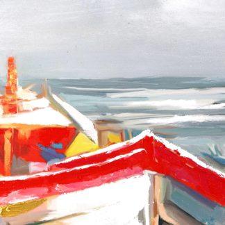 "Leinwandbild auf Keilrahmen ""HOLIDAY BEACH"" Casablanca 120 x 90 cm"