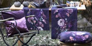 Apelt Kissen lila & gelb