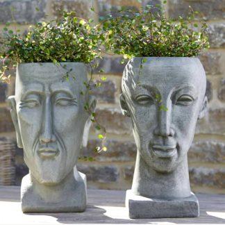 Pflanzgefäß Terrakotta Kopf MANN | OLDMANN H 42 cm