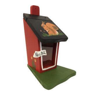 Eichhörnchen Futterhaus EICHHÖRNCHEN rot Vogelvilla H 30 cm