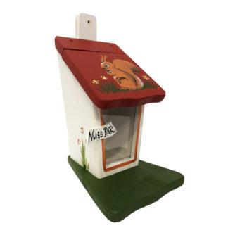 Eichhörnchen Futterhaus EICHHÖRNCHEN weiß Vogelvilla H 30 cm