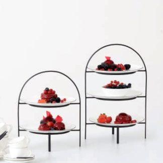 ETAGERE für Dessertteller ASA LIGNE NOIRE schwarz