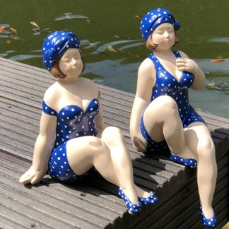 Figur BECKY & POLLY 2er Set blau Casablanca H 31+21 | 13+10 cm
