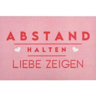 Fußmatte ABSTAND HALTEN, LIEBE ZEIGEN waschbar GiftCompany 50 x 75 cm