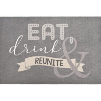 Fußmatte EAT, DRINK & REUNITE waschbar GiftCompany 50 x 75 cm