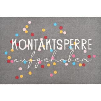 Fußmatte KONTAKTSPERRE AUFGEHOBEN GiftCompany 50 x 75 cm