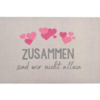 Fußmatte ZUSAMMEN SIND WIR NICHT ALLEIN WASCHBAR GIFTCOMPANY 50 x 75 cm