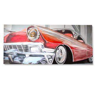 "Leinwandbild auf Keilrahmen ""CLASSIC CAR"" Casablanca 3D 80x180 cm"