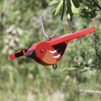 Meisenknödelhalter hängend, rot Vogelvilla H 9 cm