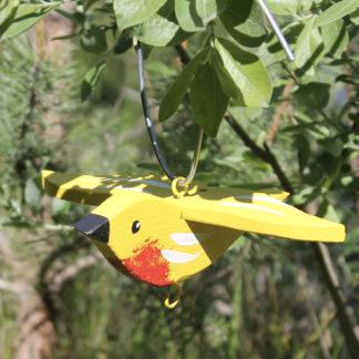 Meisenknödelhalter hängend, gelb Vogelvilla H 9 cm