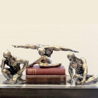 Skulptur WORKOUT Casablanca 3er Set H 11 - 17 cm
