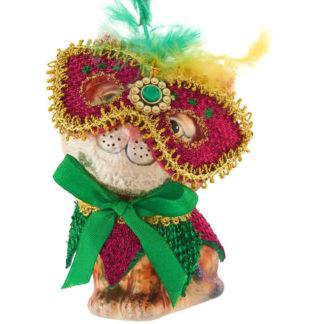 Weihnachtsbaumschmuck KATZE MIT MASKE GiftCompany H 11,5 cm