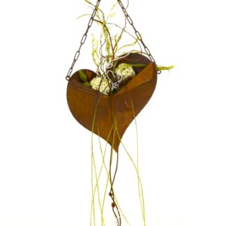Gartendeko METALL HERZ zum Hängen Rost H 30 cm