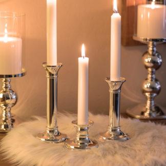 Kerzenständer FIONA Edzard versilbert für Stabkerze H 8 | 15 |18 cm