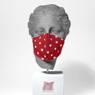 Mundschutzmaske Magma Fashion HERZEN Größe S | L