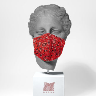 Mundschutzmaske Magma Fashion PAISLEY rot Größe L