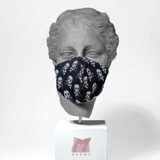 Mundschutzmaske Magma Fashion TOTENKOPF Größe L
