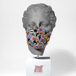 Mundschutzmaske Magma Fashion BOOM Größe S