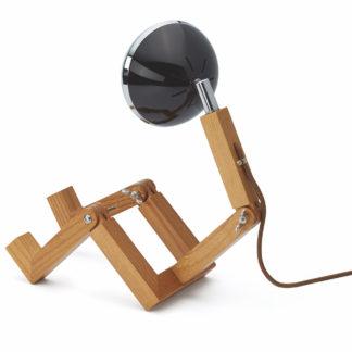 Tischlampe MINI WATTSON PIFFANY Copenhagen schwarz aus Eschenholz
