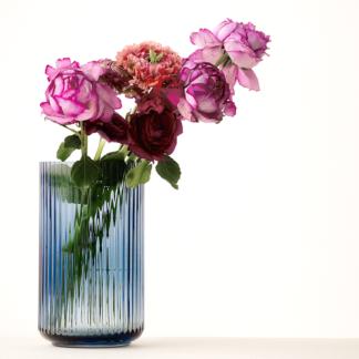 VASE LYNGBY Glas midnight blue H 25,0 | 20,5 cm
