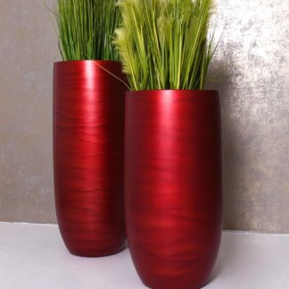 Bodenvase ANDRIA rot H 95 | 80 cm