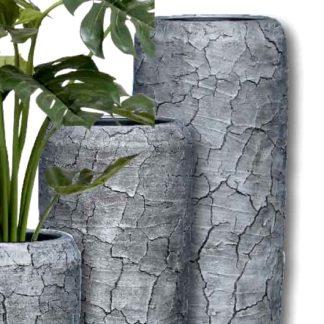 Bodenvase HARMONY zementoptik  H 75|97|117 cm