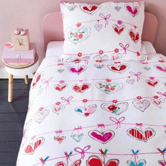 Kinderbettwäsche 135×200 cm GARLAND pink Beddinghouse Kids