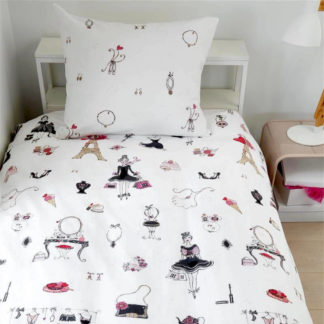 Kinderbettwäsche 135x200 cm PARIS GIRL pink Beddinghouse Kids