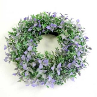 Kunstblume Blumenkranz LAVENDEL ø 25 cm