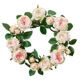 Kunstblume SEIDE ROSENKRANZ rosé ø 35 cm