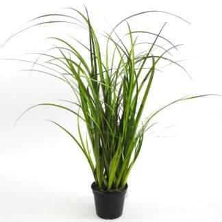 Kunstblume GRAS im Topf auf Moos H 58 cm