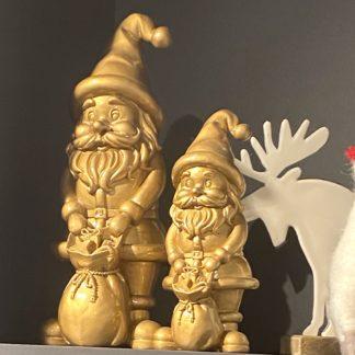 Weihnachtsdeko SANTA GiftCompany gold H 20 | 30 cm