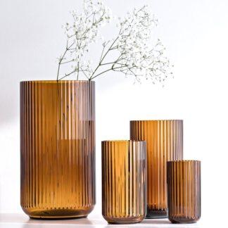 Vase LYNGBY Glas amber H 31 cm | 25 cm | 20 cm