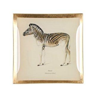 Glasteller GiftCompany LOVE PLATES ZEBRA 10x10 cm