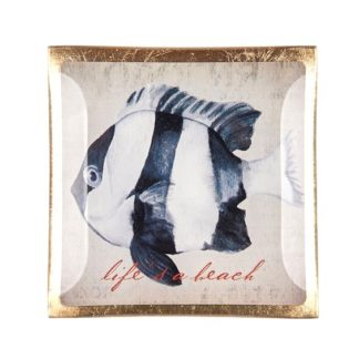 "Glasteller GiftCompany LOVE PLATES ""LIFE `S A BEACH"" 10x10 cm"