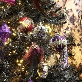Weihnachtskugel 2er Set F U N K Y Casablanca Violettpink O 10 Cm 3 324x324