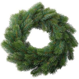Adventskranz | Adventstürkranz | Türkranz Weihnachten TANNE grün Kunst ø 50 cm