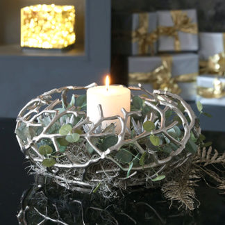 Adventskranz TWIGS Casablanca silber ø 42 cm