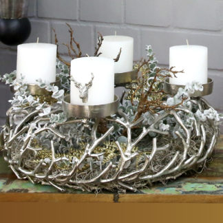 Adventskranz TWIGS Casablanca silber ø 56 cm