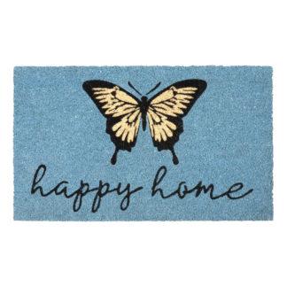 Fußmatte Kokos HAPPY HOME blau GiftCompany 45 x 75 cm