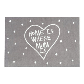 Fußmatte waschbar HOME IS WHERE MUM IS GiftCompany 50 x 75 cm
