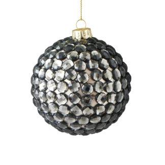 Weihnachtskugel 2er Set SEOUL GiftCompany Strasssteine grau ø 8 cm